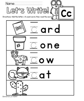 Alphabet Beginning Sounds Worksheets for Pre-K