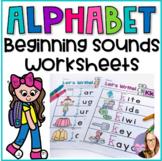 Alphabet Beginning Sounds Worksheets for Pre-K