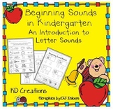 Beginning Sounds in Kindergarten - An Introduction to Letter Sounds