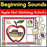 Beginning Sounds Fall Apple Mat Matching Activity