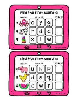 Beginning Sounds Apptivity