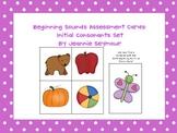 Beginning Sounds Assessment Cards:  Initial Consonants