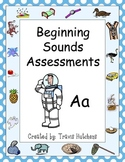 Beginning Sounds Assessments - Kindergarten