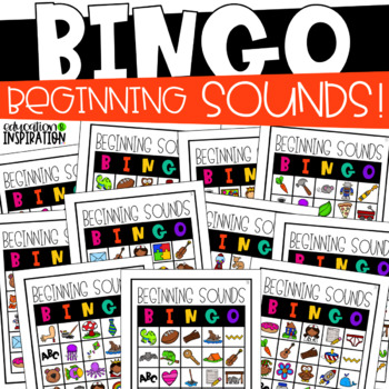 Beginning Sounds BINGO by Education and Inspiration #seven