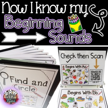 Beginning Sounds {Beginning Sounds Center and Vocabulary with QR Codes}