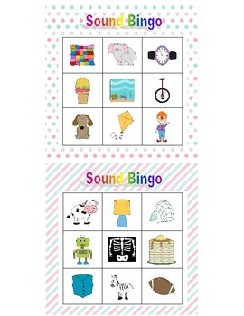 Beginning Sounds Bingo, Pastel Patterns Border