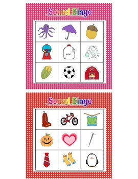 Beginning Sounds Bingo, Polka Dot Border