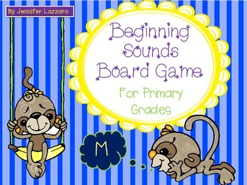 Beginning Sounds Board Game for Primary Students