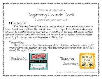 Beginning Sounds Book