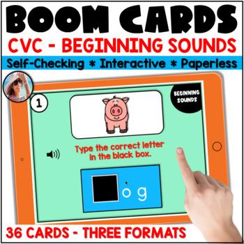 Beginning Sounds -  Boom Cards