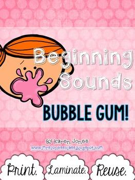 Beginning Sounds Bubble Gum!