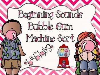 Beginning Sounds Bubble Gum Machine Sort (CCSS)