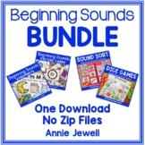 Beginning Sounds Bundle - One Download - No Zip Files
