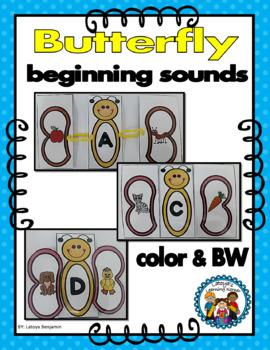 Beginning Sounds Butterfly Literacy Center