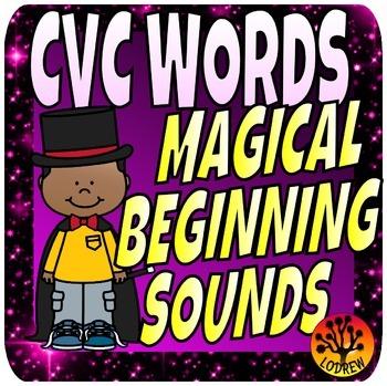 CVC Words Word Families Beginning Sounds Literacy Centers Magic
