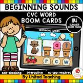 Beginning Sounds - CVC Words (Summer Boom Cards)