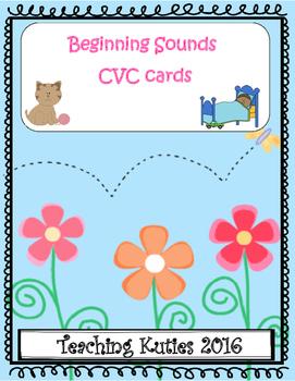 Beginning Sounds CVC word cards