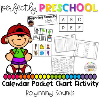 Beginning Sounds Calendar Pocket Chart Activity