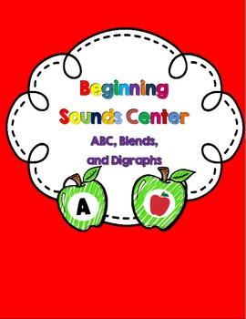 Beginning Sounds Center-ABC, Blends and Digraphs {Apple Themed}