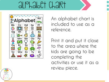 Beginning Sounds Centers and Printables