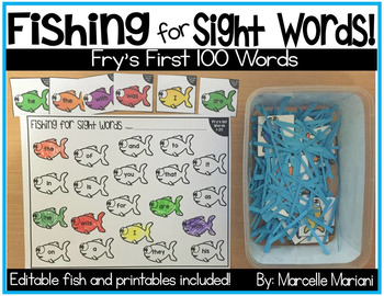 Sight Words Centers and worksheets- Fry's first 100 words