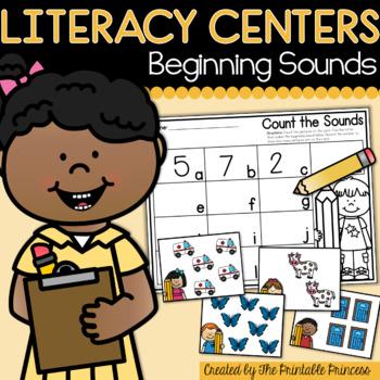 Beginning Sounds Centers for Kindergarten