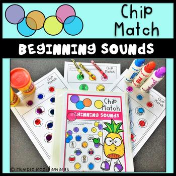 Kindergarten Beginning Sounds Chip Match