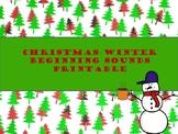 Beginning Sounds Christmas Themed Printable