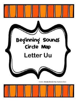 Beginning Sounds Circle Map Letter Uu