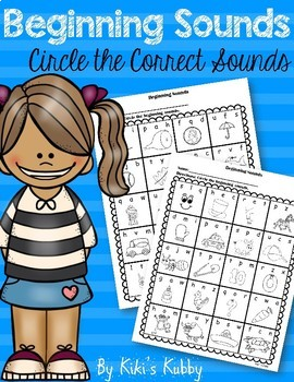 Beginning Sounds: Circle the Beginning Sounds