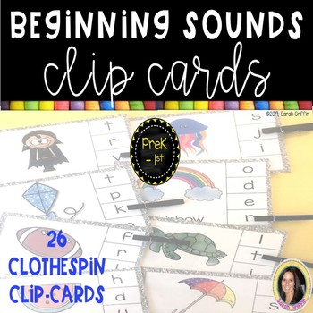 Beginning Sounds Clip Cards - Reading Center