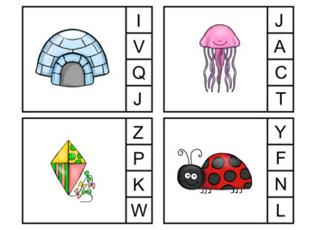 Beginning/Initial Sounds Clip Cards