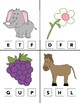 Beginning Sounds Clip Cards A-Z Alphabet clothes pin