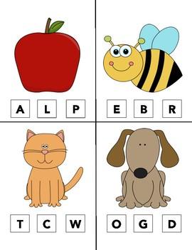 Beginning Sounds Clip Cards A-Z Alphabet clothes pin #spedislucky