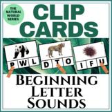 Beginning Sounds | Clip Cards | ANIMALS Real Photos | Montessori