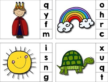 Beginning Sounds Clip Cards ***FREEBIE***