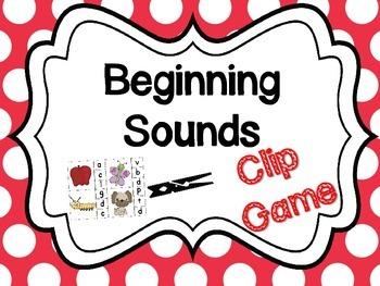 Beginning Sounds Clip Game Center Word Work
