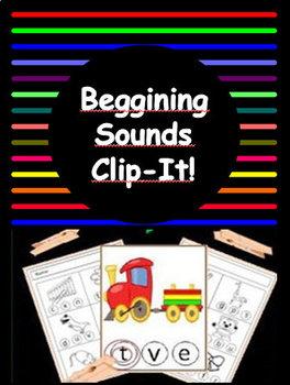 Beginning Sounds - Clip It!