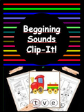 Beginning Sounds - Clip It!