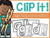 Beginning Sounds Clip It!