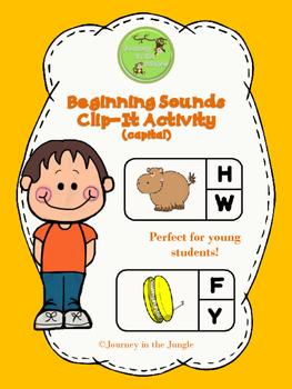 Beginning Sounds Clip-It Activity (capital)