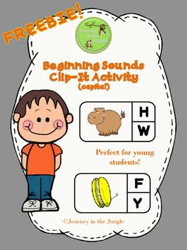 Beginning Sounds Clip-It Activity (capital) - FREEBIE!