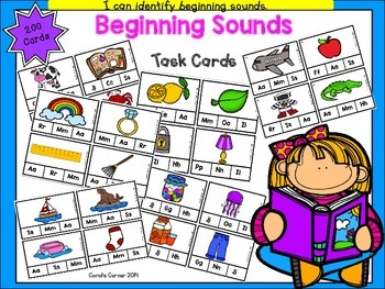 Beginning Sounds Clip It Task Cards
