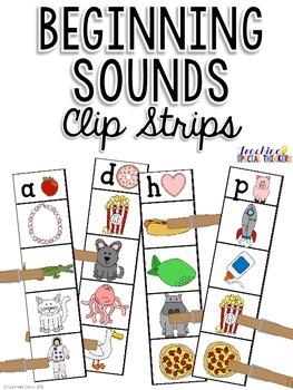Beginning Sounds Clip Strips