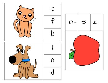 Beginning Sounds Clip Task Cards