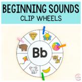 Beginning Sounds Clip Wheels