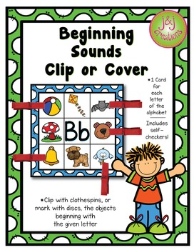 Beginning Sounds Clip or Cover