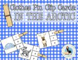 Beginning Sounds Clothes Pin Clip Cards: Arctic Animals