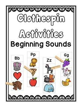 Beginning Sounds Clothespin Activity