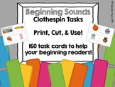 Beginning Sounds Clothespin Tasks {160 Task Cards}
